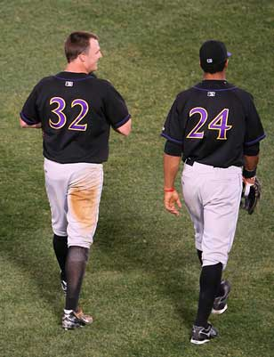 Jay Bruce and Chris Dickerson