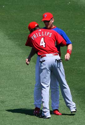 Brandon Phillips and Geoff Jenkins